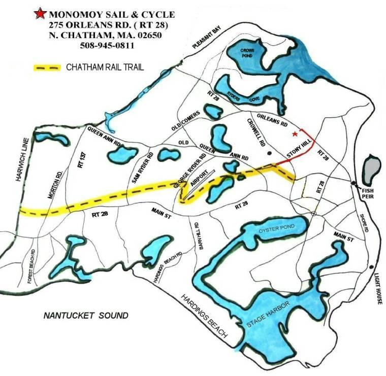 CHATHAM RAIL TRAIL,Cape Cod Rail Trail Spur, Chatham MA
